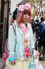blue decora kawaii girl