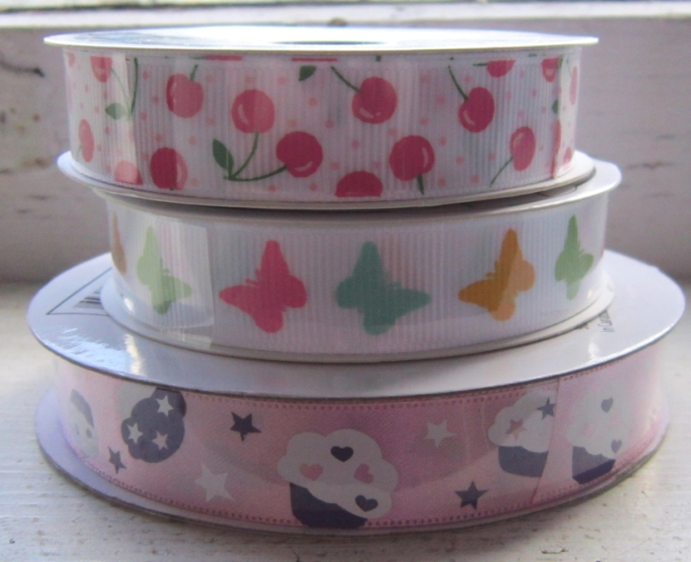 kawaii cherries cupcakes butterflies ribbon
