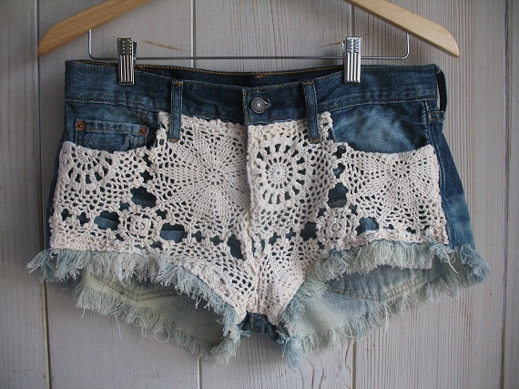 doily summer shorts