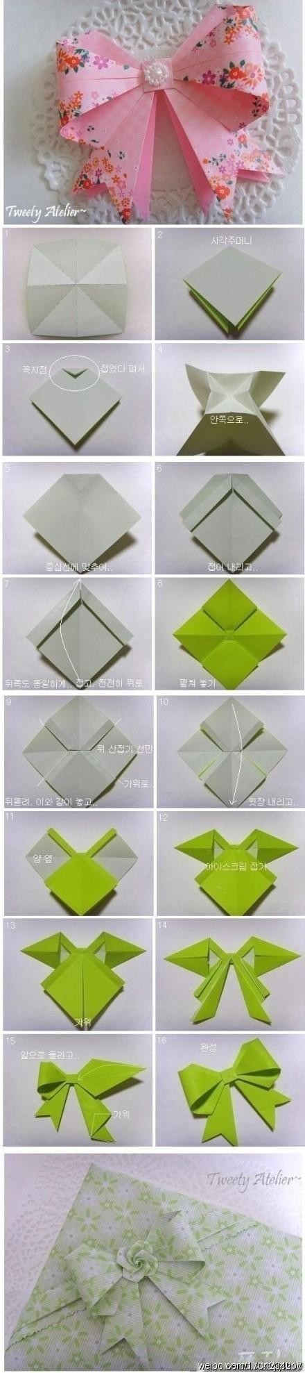 origami bow instructions