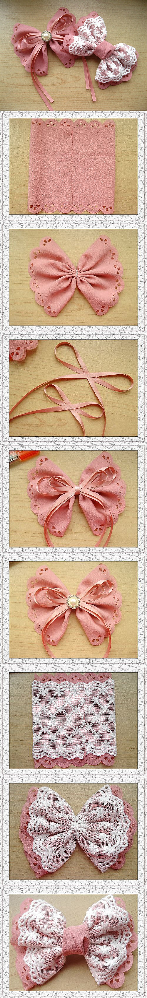 how to make lolita lace and ribbon bow