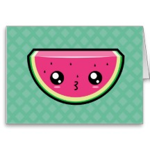 kawaii kissy watermelon