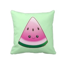 kawaii watermelon pillow
