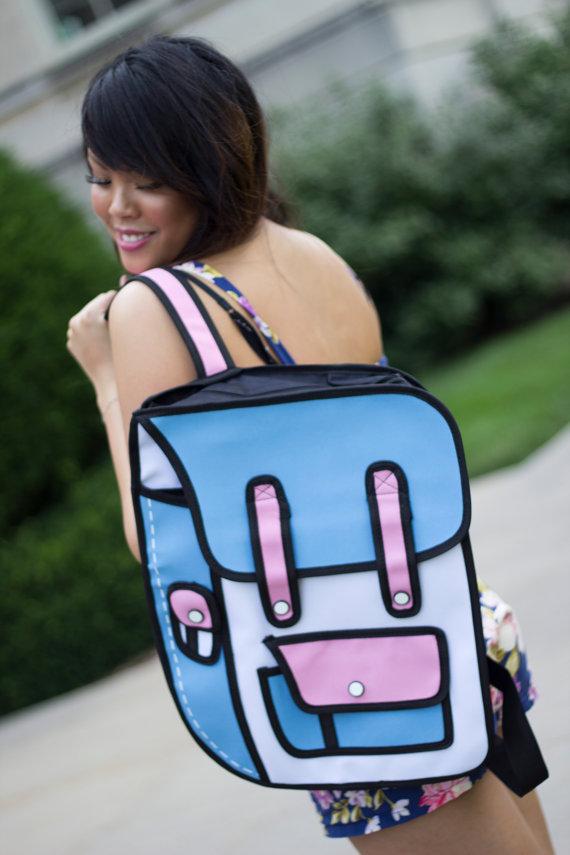 2D backpack etsy