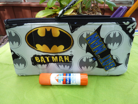 batman pencil case etsy