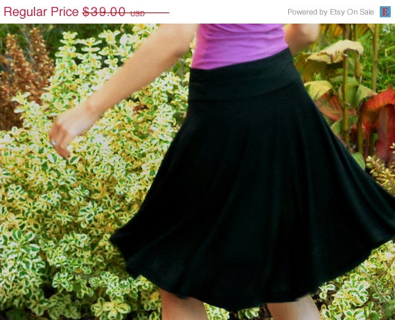 black swing skirt etsy
