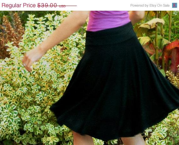 black swing skirt etsy