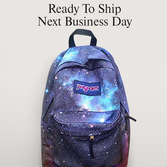 galaxy jansport backpack etsy