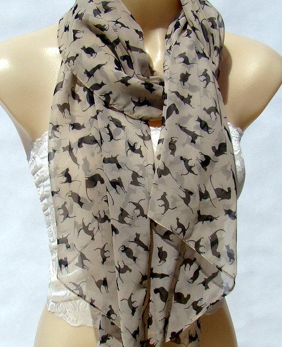 kitty scarf etsy