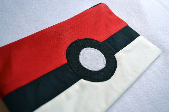 pokeball pencil case etsy