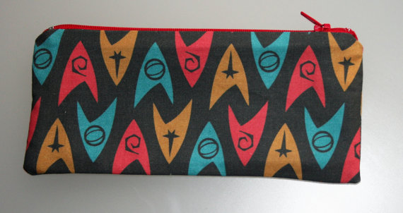 star trek logo pencil case etsy