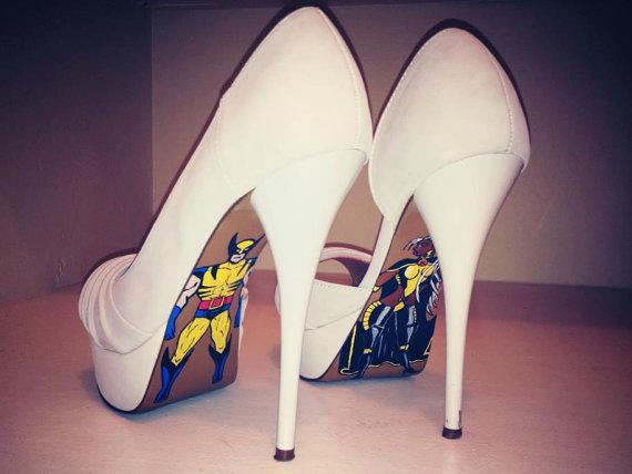 X men high heels etsy